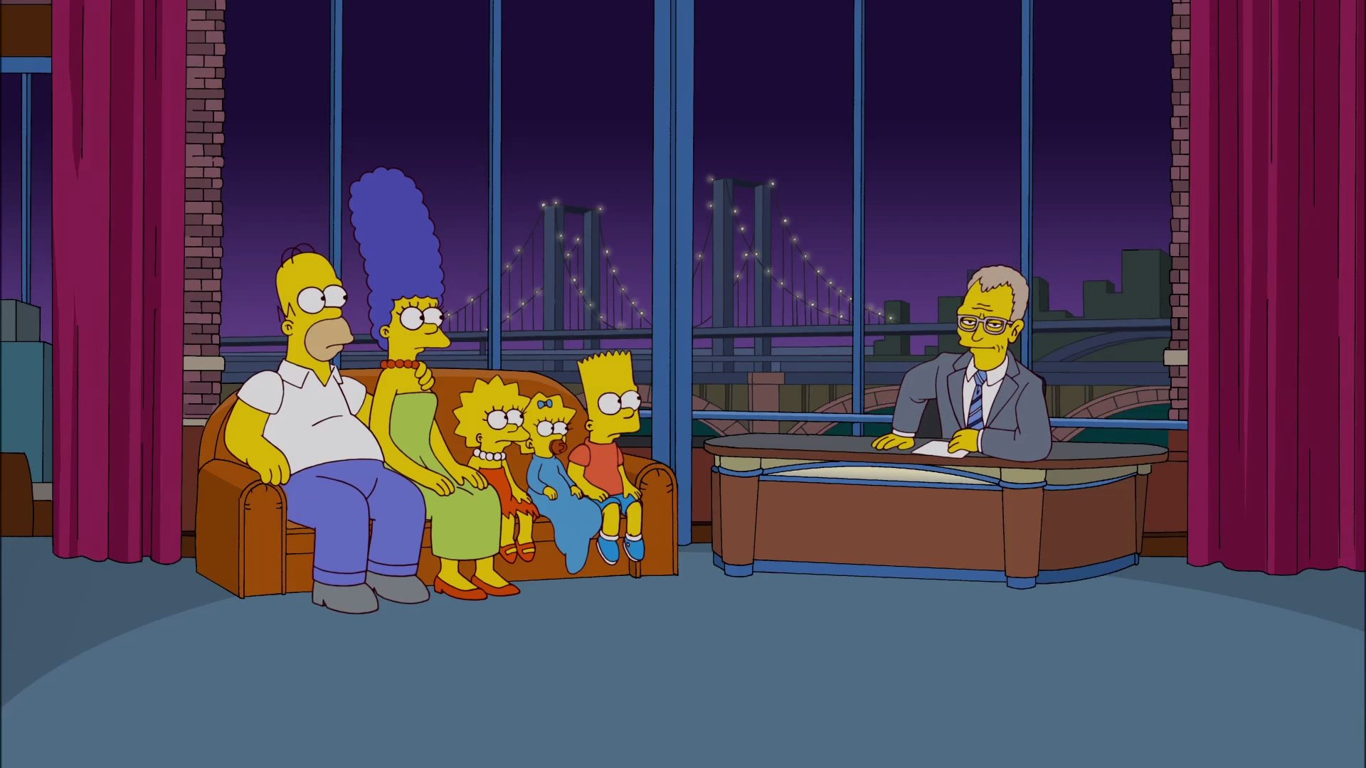 Simpsons Letterman